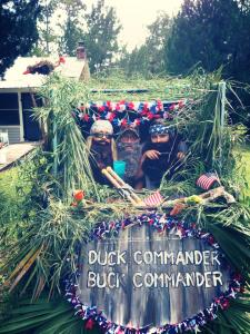 """July 4, 2013 The year to end all years, establishing a three-year streak with a mobile duck blind and beards. """"Hap-pay, Hap-pay, Hap-pay Fourth, y'all!"""""""